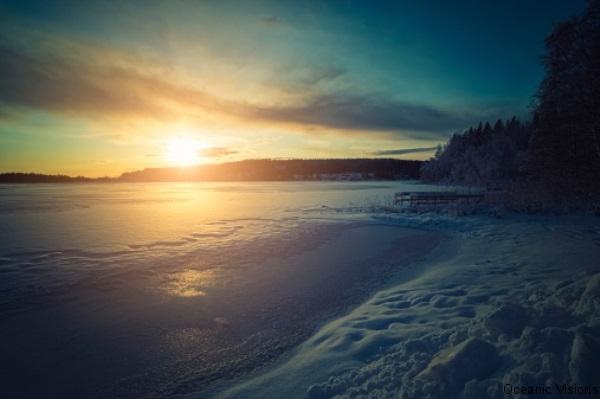 Maine Island Winter