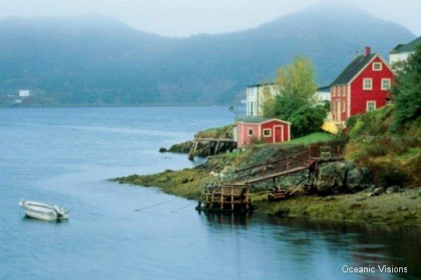 Coastal Town, Burin Peninsula, Newfoundland, Canada