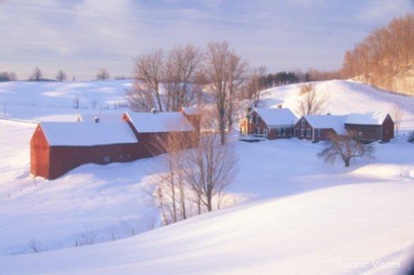 Jenne Farm with Winter Snow