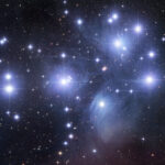 "Pleiades star cluster, M45, or ""Seven Sisters."" Photo by Robert Gendler."