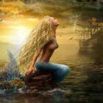 "Hrönn as ""Mermaid"" by Russian artist Alena Lazareva."