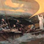 Joseph Purcell painting in the Fishermen's Memorial Room, Fisheries Museum of the Atlantic, Lunenburg, Nova Scotia.
