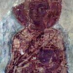 Saint Thelka, 11th century fresco in Saviour Cathedral of Chernihiv, Russia, 2007. Wikipedia photo.