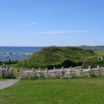 Recreation of Viking sod-covered longhouse at L'Anse aux Meadows, NL. Wikipedia photo, Dylan Kereluk, July, 2003.