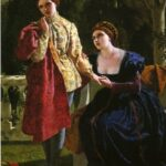 """""""Viola and the Countess,"""" Frederick Richard Pickersgill, 1859. Wikepedia, """"Shakespeare Illustrated"""" photo."""