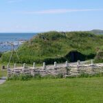 L'Anse aux Meadows, Viking settlement recreation, Newfoundland, Wikimedia photo Dylan Kereluk, 2003.