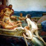 """Ulysses and the Sirens,"" Herbert James Draper, 1909, Ferens Art Gallery, Wikipedia photo."