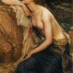 """Lamia,"" Herbert James Draper, 1909, oil on canvas, Wikipedia photo."