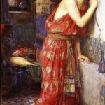 """Thisbe,"" John William Waterhouse, 1909, Wikipedia photo."
