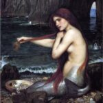 """A Mermaid,"" John William Waterhouse, 1900, Royal Academy of Arts, Wikiart photo."