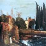 """Villa by the Sea,"" Arnold Böcklin, 1878, Kunstmusem, Winterthur, Switzerland, Wikiart photo."