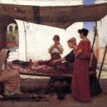"""A Flower Stall,"" John William Waterhouse, 1880, Wikiart photo. For this poem, Anya is seated."