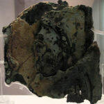 Fragment A of Antikythera Mechanism (Back). Both Wikipedia photos.