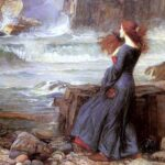 """Miranda, The Tempest,"" John William Waterhouse, 1916, Wikimedia photo."