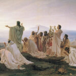 """Pythagoreans Celebrate Sunrise,"" Fyodor Bronnikov, 1868, Wikipedia photo."