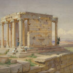 """Temple of Athena Nike,"" Werner Carl-Freidrich, watercolour, 1877, Wikimedia photo."