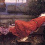 """Ariadne,"" John William Waterhouse, 1898, Wikiart photo."