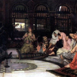 """""""Consulting the Oracle,"""" John William Waterhouse, 1883, Wikipedia photo. For this poem, Ismene."""