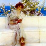 """The Years at the Spring..."" Sir Lawrence Alma-Tadema, 1902, Wikiart photo. For this poem - Thyonē."