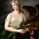 """Goddess of Youth and Cupbearer Hebe and Eagle Zeus,"" Louis Fischer, 1827, Wikimedia photo. For this poem, Dianthē, which means ""God-Flower."""