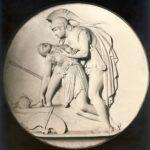 Achilles and Penthesilea, Bertel Thorvaldsen, 1837, Museum Syndicate.