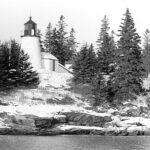 Burnt Island Lighthouse, Maine, photo U. S. Coast Guard.