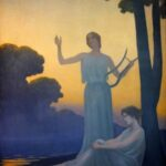 """Chant du Soir,"" Alphonse Osbert, 1906, Wikimedia photo. For this poem ""Pleiads Maia and Merope."""