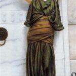 """""""Ianthe,"""" John William Godward, 1898, Wikiart photo."""