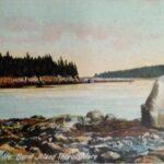 Isle au Haut, Maine, Burnt Island Thoroughfare penny postcard.