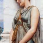 """Pompeian Girl,"" John William Godward, 1889, Wikiart photo, for this poem Adeia."
