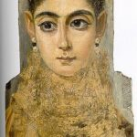 """Mummy Portrait of a Young Woman,"" 3rd Century, Louvre, Paris."