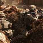 U.S. Soldiers in an Iraq Firefight, 2007, Wikipedia photo.