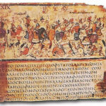"""Iliad,"" Book VIII, Lines 245-253, Greek manuscript, late 5th, early 6th centuries A.D., Wikipedia photo."