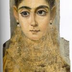 Mummy Portrait of a Young Woman, 3rd Century, Louvre, Paris, Wikipedia photo. For this poem Ismene metamorphosed into maiden scribe.