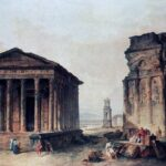 Ruins at Nimes, Hubert Robert, Wikipedia photo.