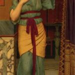 """A Pompeian Lady,"" John William Godward, 1916, Wikiart photo, for this poem Cythereia."