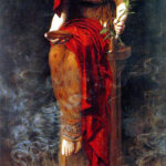 """Priestess of Delphi,"" John Collier, 1891, Wikimedia photo."