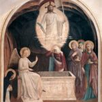 """Resurrection of Christ and Woman at the Tomb,"" Fra Angelico, 1442, Wikiart photo."