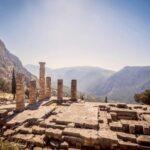 Delphi Temple Columns, photo courtesy of Gareth Blayney @GBlayney.
