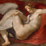 """""""Leda and the Swan,"""" 16th-century copy by Peter Paul Rubens, after a lost painting by Michelangelo, National Gallery, London, Wikipedia photo."""