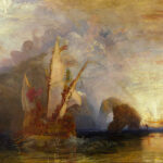 """Ulysses Deriding Polyphemus,"" Joseph Turner, 1829, National Gallery, London, Wikipedia photo, mystical scene for this poem."