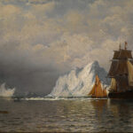 """Whaler And Fishing Vessels Near The Coast Of Labrador,"" William Bradford, 1880, Wikipedia photo."