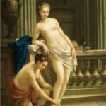 """Greek Woman at Bath,"" Joseph-Marie Vien, 1767, WikiArt photo."