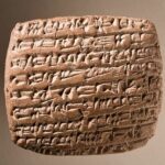 Ancient cuneiform tablet from LACMA.org collections, Wikimedia photo.