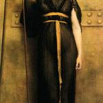 """A Priestess,"" John William Godward, 1894, Wikipedia photo."