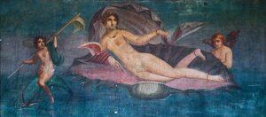 """Aphrodite Anadyomene,"" fresco from Pompeii, Casa di Venus, 1st century AD, Wikipedia photo."