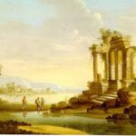 """Landscape with Temple Ruins,"" Caspar David Friedrich, 1797, Wikipedia photo."