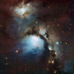 Reflection nebula, Messier 78, European Southern Observatory (ESO), Wikipedia photo.