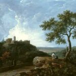 Temple of the Sybil and Campagna, Richard Wilson, 1765, WikiArt photo.