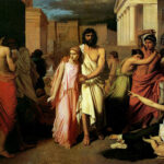 """""""The Plague of Thebes,"""" Charles Jalabert, 1842, Musée des beaux-arts de Marseille, Wikipedia photo. For this poem, Morys and Myrtis."""